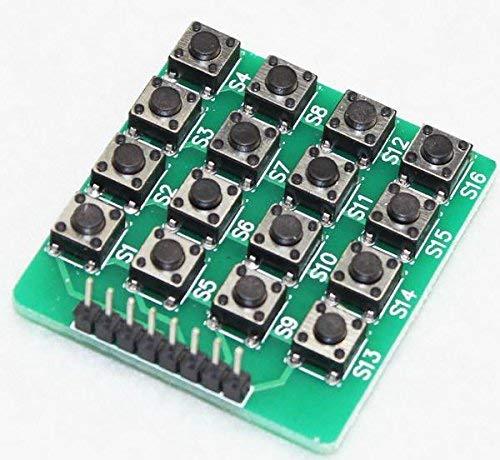 1pcs 4X4 44 Matrix Keypad Keyboard Module 16 Bottom mcu für Arduino