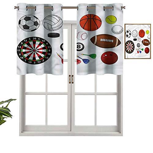 Hiiiman Panel de cortina para interiores y hogares, bolas de hockey para dardos, juego de 1, 106,7 x 45,7 cm para baño y cafetería.