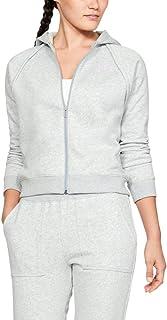 Under Armour Rival Fleece Full Zip, Mod Gray Light Heather/Purple Ace, Large