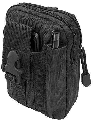 Outdoor Saxx® - Sac de ceinture tactique robuste - Sac de transport pour équipement portable, smartphone, GPS, tracker couteau, noir.
