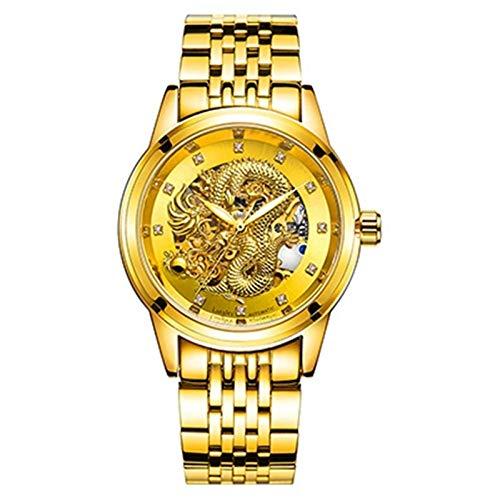 Mira El Reloj De Cuarzo De Negocios De Lujo De Los Hombres, Cristal, Estuche De Aleación, Adecuado para Todo Tipo De Negocios Y Ocio.(Color:B)