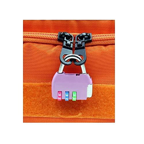 Cerradura con contraseña, candado pequeño, cerradura de armario, mochila, maleta, gimnasio, dormitorio de estudiantes, puerta, alambre, candado pequeño-Rueda de color * violeta