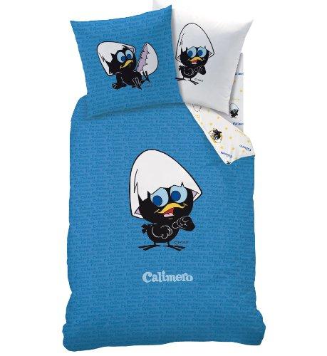 CTI 041452 Bettbezug, 140x200cm, mit Kissenhülle, 63x63cm, Motiv Calimero Petit & Mignon