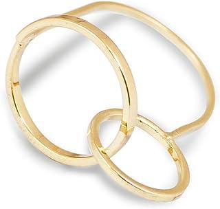 Karatcart Gold Metal Geometrical Ring for Women