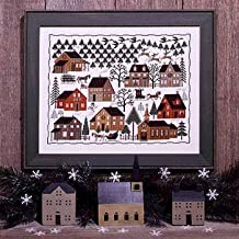 Christmas Village Cross Stitch Chart (Second Edition) and Free Christmas Embellishment