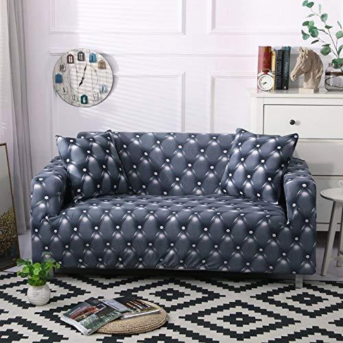ASCV Funda de sofá Moderna geométrica a Prueba de Polvo elástica Flor sofá Toalla Muebles de Sala Cubierta Protectora A6 3 plazas