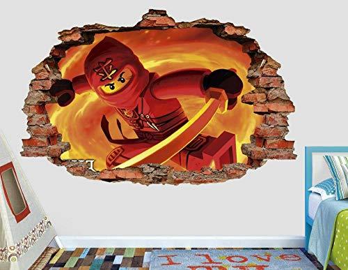 Etiqueta de la pared de aspecto 3D tatuajes Breakthrough Wall Sticker 3DAventurosa pared calcomanía decoración destrozada 3d pegatina arte vinilo