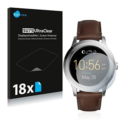 Savvies 18x Schutzfolie kompatibel mit Fossil Q Fo&er 2.0 Bildschirmschutz-Folie Ultra-transparent