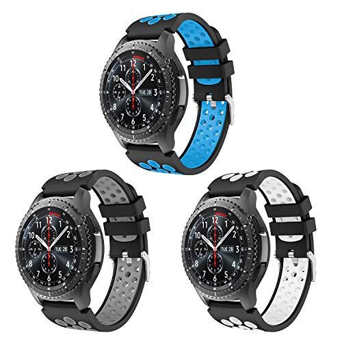 Syxinn Compatible con Correa de Reloj Gear S3 Frontier/Class