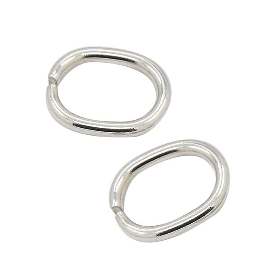 arricraft 20pcs 10x7mm Stainless Steel Open Jump Rings Oval Jewelry DIY Findings for Jewelry Making