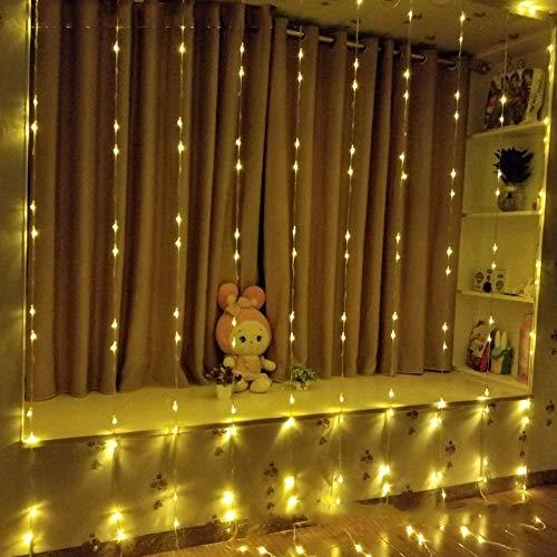 Luces de hadas de cuento de hadas, 3x2, cascada Luz de lluvia de lluvia de meteoritos a prueba de agua, cortinas de luz de hadas, luces de cuento de hadas, cortina de