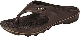Canserin Mens Sandals Indoor and Outdoor Beach Summer Casual Wide Platform Round Toe Flip Flops