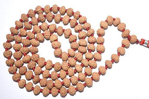 Estone 7 mukhi rudraksha mala 108+1 = 109 Beads Energized Certified 7 mukhi Face Rudraksha mala AAA Quality Beads