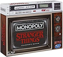 Monopoly Stranger Things Samler-Edition brädspel från 14 år, engelsk utgåva