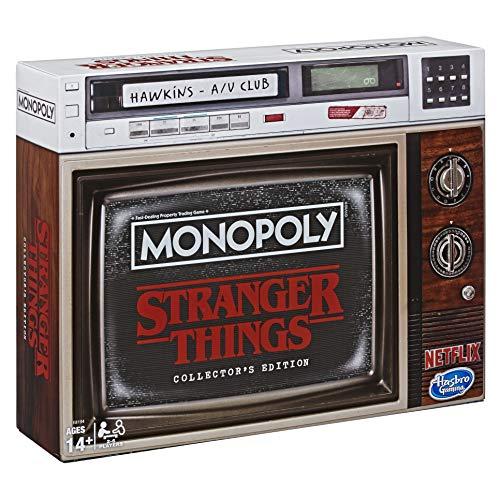 Monopoly Stranger Things Sammler-Edition, ENGLISCHE Version, Brettspiel ab 14 Jahren