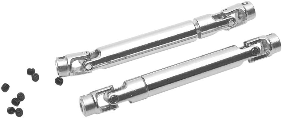 2Pcs 1:10 RC Stainless Steel Centre Drive Shaft For 1//10 RC Rock Crawler Axial SCX10 RC-4WD D90 Redcat Gen7 //Pro TAMIYA CC01,Etc.