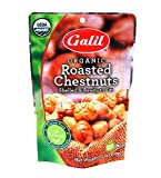 Galil Organic Roasted Chestnuts | Shelled | Ready to Eat Snack | Gluten Free, All Natural, 100% Vegan, No Preservatives | Great for Snacking, Baking, Cooking & Turkey Stuffing | 3.5oz Bags (Pack of 3)