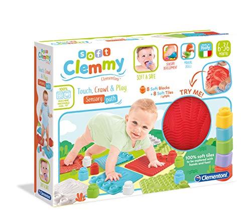 Clementoni- Soft Sensoriels Clemmy-Tapis d'éveil pour bébé-Blocs de Construction Premier âge-fabriqué en Italie, 10 Mois et Plus, 17352, Multicolore