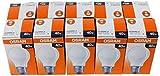 Osram Lot de 10 Ampoules 30800003E, forme de poire, 100 W, E27, Verre, matt, E27 40W