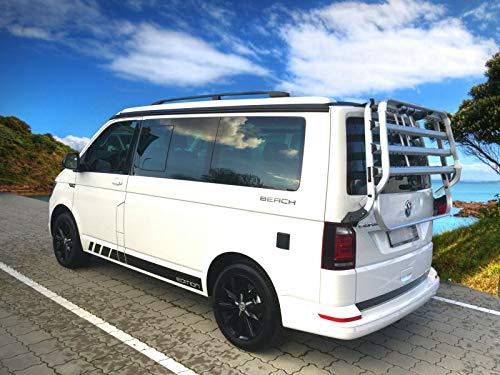 Dakrailing geschikt voor VW T5 en T6 Camper California lange wielbasis vanaf bouwjaar 2003 in zwart met TÜV en ABE