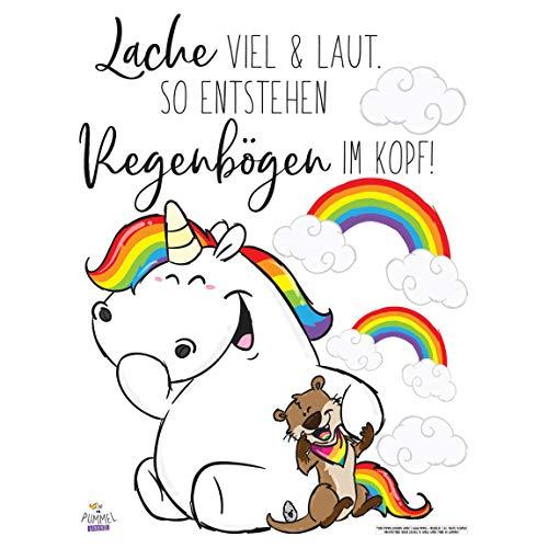 Bilderwelten Wandtattoo - Pummeleinhorn - Buddy lacht, 40cm x 30cm