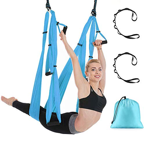 Save %41 Now! DUT Aerial Yoga Swing - Ultra Strong Antigravity Yoga Hammock/Sling/Inversion Tool for...