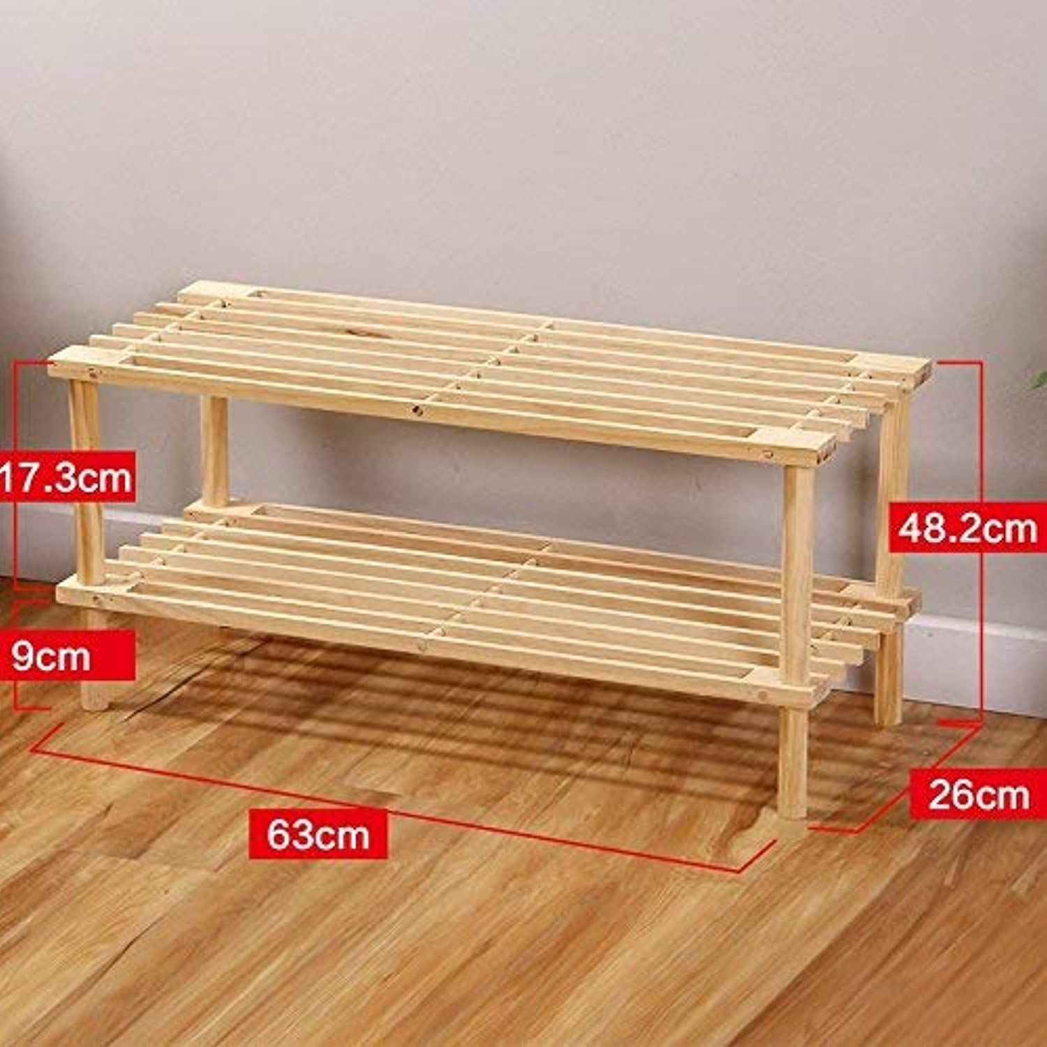 SED Home Door Living Room shoes Rack Multi-Layer,2-Tier Solid Wood Storage Sort Out Entrance Foyer Simple Modern Space Saving Bookshelf Multi-Function Storage Shelf shoes Cabinet