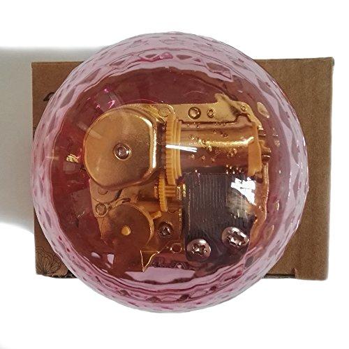 Creative à remonter en acrylique Plastique Transparent Boîte à musique avec mouvement fabriqués en, différentes formes Boîte à musique, lune rivière, Acrylique, rose, Ball-shaped Pink