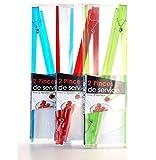 Palillos chinos con forma de pinza – Juego de 2 unidades varios colores