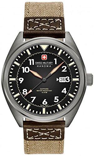 Swiss Military Hanowa Herren Analog Quarz Uhr mit Textil Armband 06-4258.30.007.02