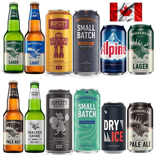 Moosehead Bierpaket BEST OF 12er Pack original kanadisches Bier - auch als perfektes Bier Geschenk für Männer (inkl. 3,00 € Pfand)