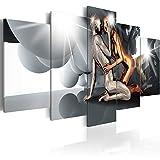 murando - Cuadro en Lienzo 200x100 cm Persona Impresión de 5 Piezas Material Tejido no Tejido Impresión Artística Imagen Gráfica Decoracion de Pared Coppia Amor h-A-0046-b-n