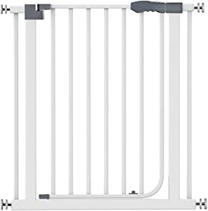 Pressure Mount Baby Safety Gates For Stairs Pet Dog Fence Walk Thru Extra Wide Fireplace Self Closing With Door Fence Isolation Door Anti-Dog Guardrail  Color High79cm width  Size 172-179cm