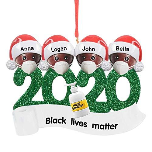 Supertong personalizado sobrevivió familia ornamento 2020 adornos de Navidad árbol adornos decoraciones navideñas regalos personalizados