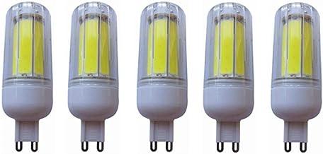 SGJFZD G9 Led Lamp Bulb G9 Led Corn Light Bulb G9 Corn Lamp G9 Led 8W COB Chandelier Lighting 200-240V 5-Pack (Color : Coo...