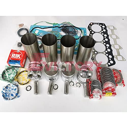 Para la carretilla elevadora MITSUBISHI S4S reacondicionamiento kit de reconstrucción bomba de agua completa junta completa pistón trazador de líneas anillo cilindro