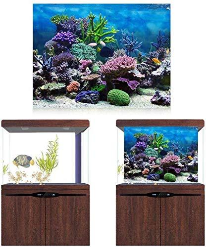 HEEPDD Fond Aquarium, Poster pour Aquarium Fond Aquariumfond pour Aquarium Corail sous-Marin épaissir Décoratif Papier Fond D'aquarium Affiche Aquarium (61 * 30cm)