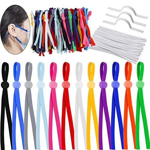 120 Piezas 5mm Cuerda Elastica, Plana Cintas elásticas para Costura y Manualidades...