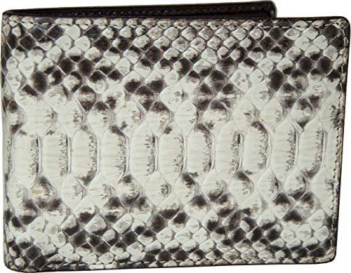 Etabeta Artigiano Toscano - Cartera de hombre con monedero de auténtica piel de pitono, con certificado CITES - Fabricada en Italia, Roccia 5 (Gris) - Roccia 5_2020