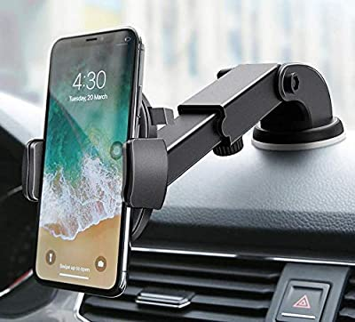 Widras New 2020 Design Dashboard | Windshield Car Phone Mount Washable Strong Sticky Gel Pad w/ One-Touch Design Holder for iPhone 11 Pro Max XS X 8 7 Plus Samsung Galaxy S7 S8 S9 S10+ Edge Universal by Widras