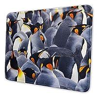 マウスパッド 皇帝ペンギン群衆, 疲労低減マウスパッド 耐久性が良い 滑り止めゴム底 滑りやすい表面 マウス用パット