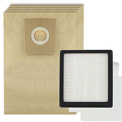 Spares2go filtre HEPA Pad Kit + 5 Sacs pour Nilfisk GM210 GM310 GM320, Gm410 Gm420 aspirateurs de la série