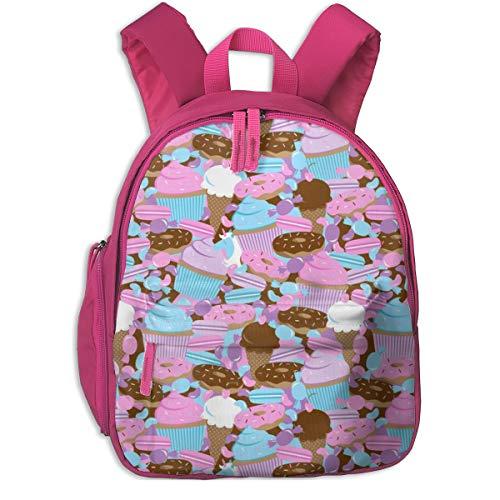 Kinderrucksack für Mädchen, Unicorn U0026 Sweets (Cotton Candy Pink) _2694 - robyriker, Für Kinderschulen Oxfordstoff (pink)