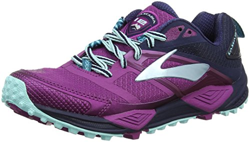 Brooks Cascadia 12, Zapatillas de Running para Asfalto Mujer, Multicolor (Plum/Navy/Ice Blue 1b533), 37.5 EU