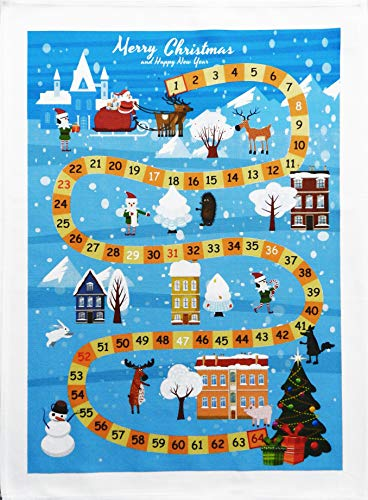 Half a Donkey Christmas Countdown Large Cotton Tea Towel
