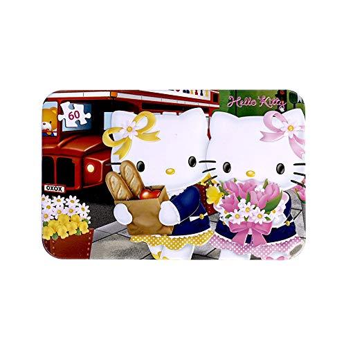 SNUUR-ZH Hello Kitty 60 Pezzi Puzzle per Bambini Puzzle in Una Scatola di Ferro Cartoon Cat Puzzle Puzzle di apprendimento e intrattenimento, Regalo di Compleanno per Ragazze, Premi per Bambini