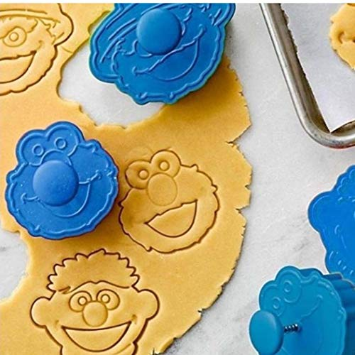 LAVALINK 1pc Kuchen-Form Stroh 3D Sesame Street Elmo Ausstechform Biscuit Hand Stamp Press Plunger Cutter Mold-silikon-Form
