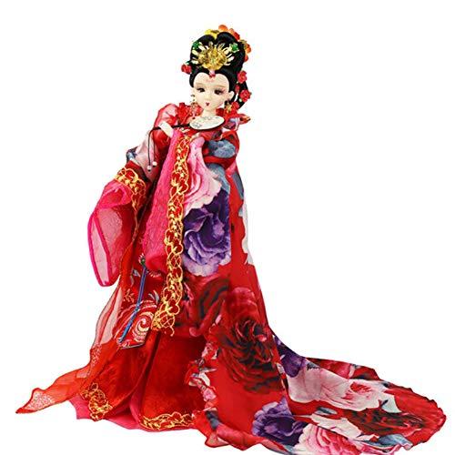 Seidenpuppen, orientalisches Dekor, chinesische Puppe mit antikem Kostüm, 12,5 Zoll Mädchenpuppe für die Tischdekoration,e