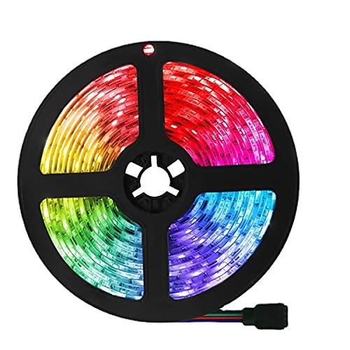 MINGRT Tiras LED 10M, BBluetooth Musical Tira De Luz LED, Modo Temporizador, Esterno Impermeabile Strip Light Para Jardín Partido Navidad (Color : 5M/90LED)