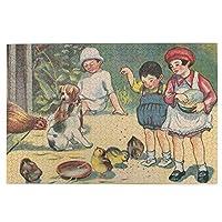 1000ピース ジグソーパズル 中西義男 「エサ ヲ アゲルヨ」 ジグソーパズル 木製パズル Puzzles 50x75cm(6歳以上が適しています)